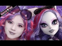 catrine demew monster high doll costume makeup tutorial for cosplay or kittiesmama