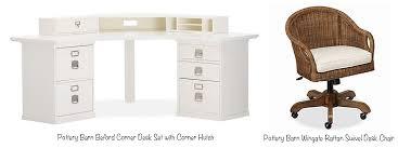 Rattan Desk Chair Home Office Desktop Organization Pretty Neat Living