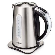 amazon com derozzi stainless steel electric kettle for tea water