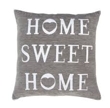 Gry Colour Stylish Shabby Chic Design Home Sweet Home Filled Cushion Grey Colour