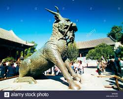 qilin statue bronze qilin statue in front of of benevolence and longevity