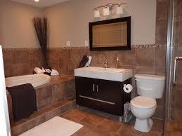 brown tile bathroom paint home design ideas