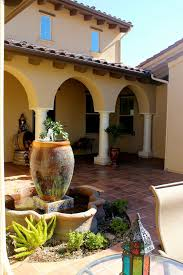 Outdoor Moroccan Furniture by Urns Fountain Patio Mediterranean With Moroccan Lantern