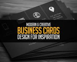 Business Card Design Inspiration Modern Business Cards Design 26 Creative Examples Design