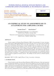 an empirical study on assessment of co atainment for a diploma