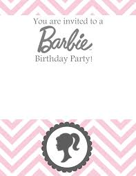 sew darn cute barbie birthday free template party planning and