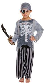 boys zombie pirate halloween ghost ships mate fancy dress costume