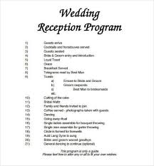 wedding reception program wedding reception programme christian program templates capable