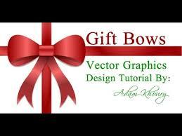 gift bow design tutorial vector graphics presents