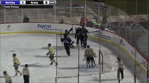 bentley college hockey bentley vs army west point frozen fenway youtube
