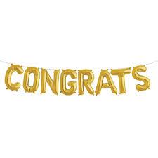 congratulations engagement banner congrats gold letter balloon kit 16 congratulations balloons