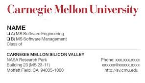 student business card business cards printing mailing services carnegie mellon