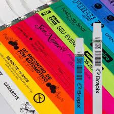 Common Pulseira Tyvek personalizada - Pulseiras de identificação Tyvek  @MX58