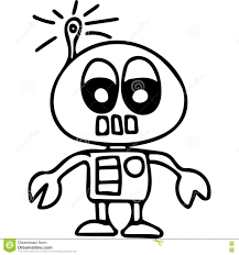 robot kids coloring page stock illustration image 78490719