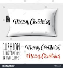 design vector pillow cushion merry stock vector