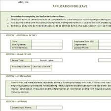 Property Management Excel Template Application For Leave Form