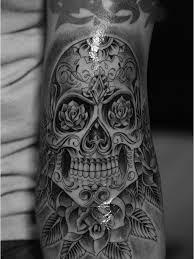 Forearm Skull - sugar skull on left forearm