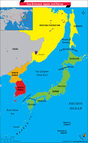 Maps Of World Com by What Is The Name Of The Sea Between Japan And Korea Answers