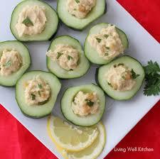 Hummus Kitchen Cucumber Hummus Cups Living Well Kitchen