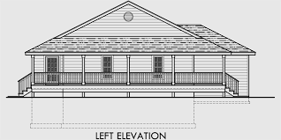 House Plan With Wrap Around Porch One Level House Plans House Plans With Basements