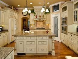 Distressed Painted Kitchen Cabinets Kitchen Paint Color White Distressed Kitchen Cabinets Antique