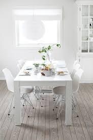 Best Eetkamertafel Images On Pinterest - All white dining room