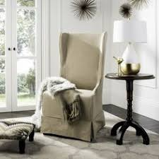 Safavieh Furniture Outlet Store Safavieh Deco Bacall Ivory Slip Cover Side Chair Overstock