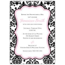 wedding shower invitations damask pink bridal shower invitations paperstyle