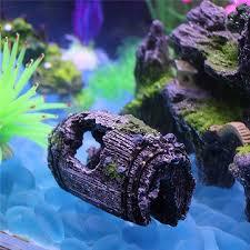 aquarium fish shelter resin barrel cave landscaping fish tank