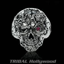 skull rings tribal