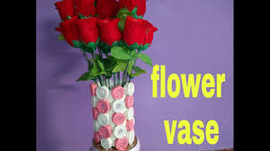 how to make flower vase with paper youtube