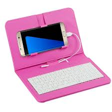 general wired keyboard flip holster case for andriod mobile phone