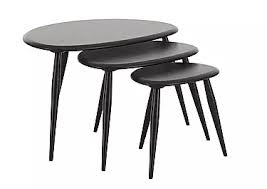 buy nest of tables black nest of tables furniture village