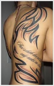 the tribal back tattoo designs and meaning for men on back http