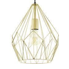 wire cage pendant light eglo 49933 carlton gold open wire cage pendant light
