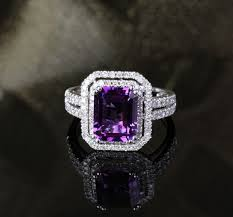Purple Wedding Rings by Best 25 Purple Diamond Engagement Ring Ideas On Pinterest