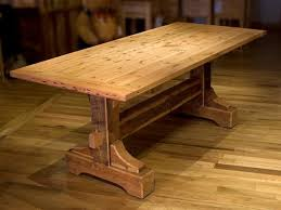 Table Designs Outstanding Dining Room Decoration With Trestle Dining Table