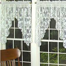 Lace Valance Curtains 72 44 Swag Pair Heritage Lace Timeless Classic