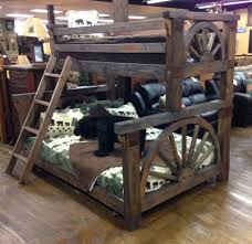 Cowboy Bunk Beds Bradley S Furniture Etc Rustic Log And Barnwood Bunk Beds