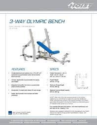 cf 2179b 3 way olympic bench hoist fitness pdf catalogues