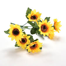 Decorative Flowers For Home by Online Get Cheap Sunflower Bunch Aliexpress Com Alibaba Group