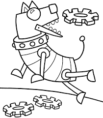 robot coloring page 11289