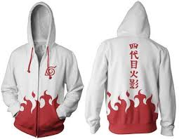 crunchyroll fourth hokage style hoodie large naruto shippuden