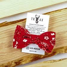 bandana bow bandana bow tie by trax ties paw boutik