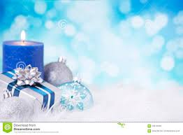 blue and silver with baubles stock photo image