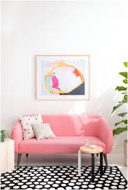 how a pink sofa gives an unexpected touch to your living room