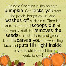 being a christian is like being a pumpkin ideas for