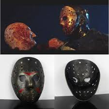 Jason Halloween Mask by Freddy Vs Jason Mask Party Halloween Masks Scary Masks Men Full