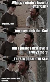 Walking Dead Rick Meme - rick carl pirate walking dead pinterest walking dead memes