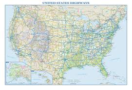 Map Of Alaska And Usa by Usa Interstate Highways Wall Map